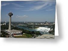 Skylone Tower And Niagara Falls Greeting Card