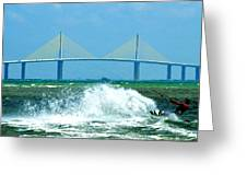 Skyway Splash Greeting Card by David Lee Thompson