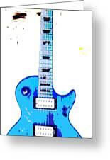 Slash's Guitar Greeting Card by David Alvarez
