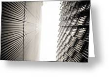 Slatted Window Architecture Greeting Card