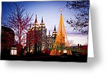 Slc Temple Tree Light Greeting Card