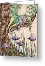 Sleeping Gnome Greeting Card