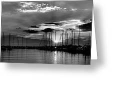 Sleepy Harbor Greeting Card