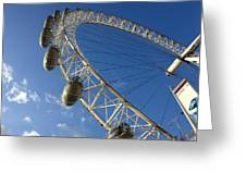 Slice Of The Wheel Of London Eye From An Angle Greeting Card