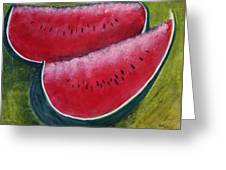 Slices Of Summer Greeting Card by Gitta Brewster