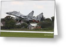 Slovak Air Force Mig-29 Fulcrum Taking Greeting Card