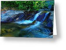 Small Blue Water Greeting Card
