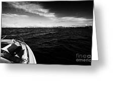 Small Boat Approaching Bangor From Belfast Lough County Down Northern Ireland Greeting Card by Joe Fox