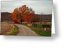Small Country Road Greeting Card