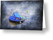 Small Fisherman Boat Greeting Card by Svetlana Sewell
