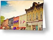 Small Town Colors Greeting Card by Christina Klausen