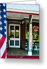 Small Town Patriotism Greeting Card