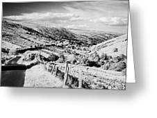 Small Twisty Narrow Country Mountain Road Through Glendun Scenic Route Glendun County Antrim Greeting Card by Joe Fox