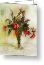 Small Vase Of Flowers Greeting Card