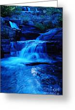 Small Waterfall Going Into Spirit Lake  Greeting Card