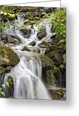 Small Waterfalls And Brook West Bolton Greeting Card