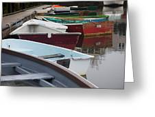 Small Wooden Boats Greeting Card