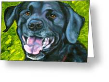 Smiling Lab Greeting Card