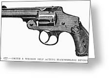 Smith & Wesson Revolver Greeting Card