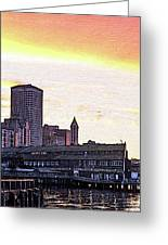 Smith Tower View Greeting Card