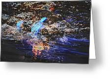 Smoke On The Water Greeting Card by Kelly Reber