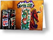 Smoke Shop Grafitti Art  Greeting Card
