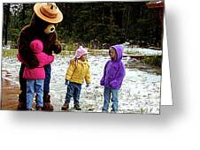 Smokey And The Girls Greeting Card