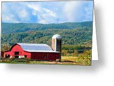 Smokie Mountain Barn Greeting Card by Betty LaRue
