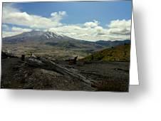 Smoking Mountain Greeting Card