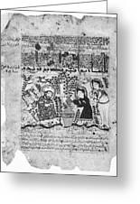 Snake Healers, 12th Century Greeting Card