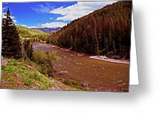 Snake River And Rafters Greeting Card