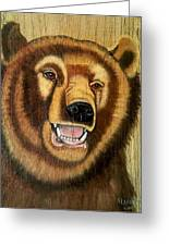 Snarling Grizzly Greeting Card