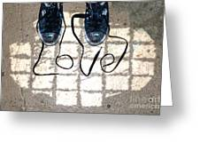 Sneaker Love 1 Greeting Card by Paul Ward