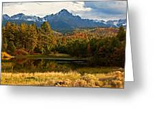 Sneffels Reflections Greeting Card