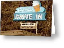 Sno-flake Drive In Lake Tahoe Greeting Card