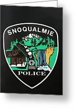 Snoqualmie Police Greeting Card