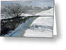 Snow Above Barbondale - Barbon Greeting Card