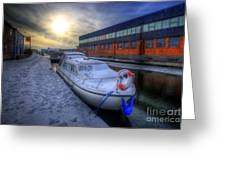 Snow Boat 1.0 Greeting Card