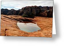 Snow Canyon 3 Greeting Card