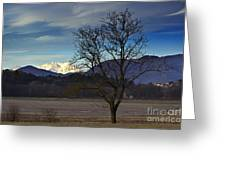 Snow-capped Monte Rosa Greeting Card