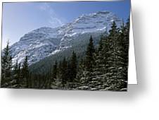 Snow Capped Mountain Greeting Card