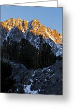 Snow Capped Ridge Greeting Card