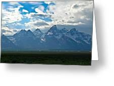 Snow Capped Teton Mountains Greeting Card