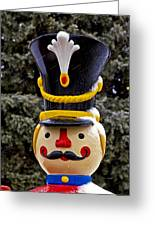 Snow Coverd Toy Soldier Greeting Card