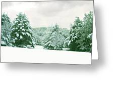 Snow Covered Countryside Greeting Card