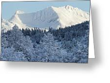 Snow Covered Mount Currie From Whistler Greeting Card