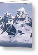Snow-covered Mountains On Wienke Greeting Card