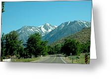 Snow Covered Pass Ahead Greeting Card