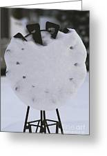 Snow Covered Windmill Greeting Card