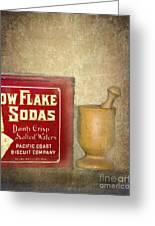 Snow Flake Soda Crackers Greeting Card